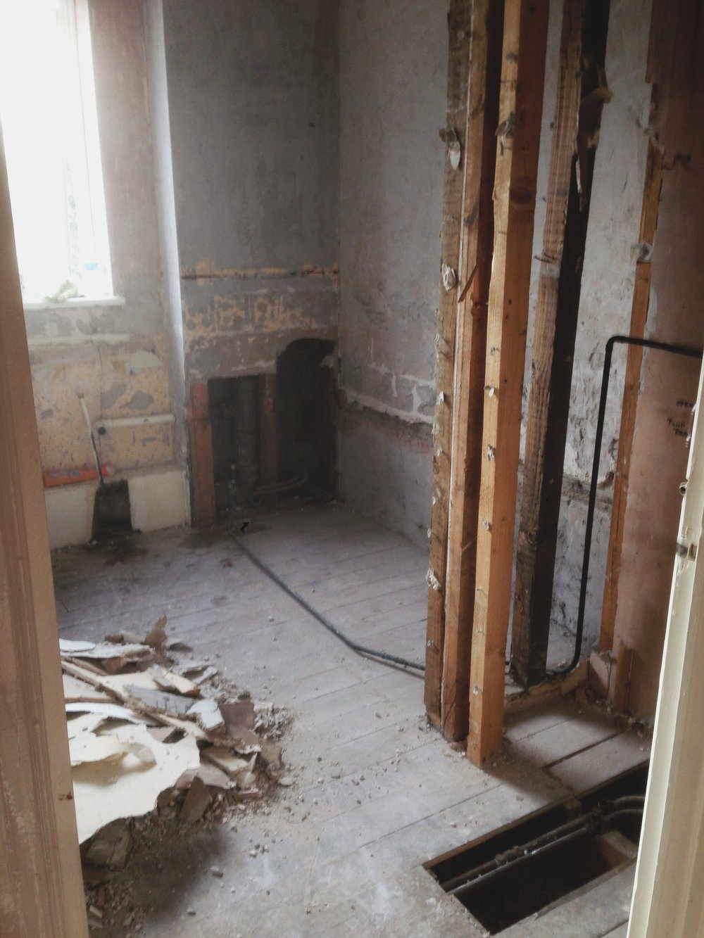 suite out! then we removed the wooden structure of the cupboard