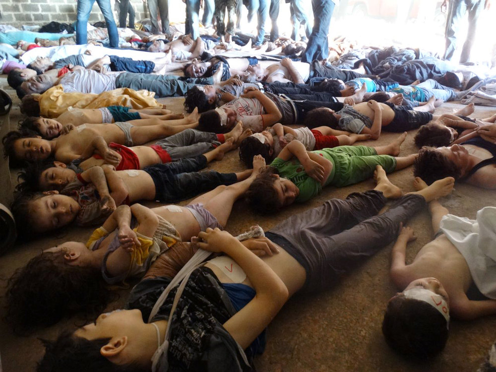 Dead children, among 355 others killed, after a sarin gas attack, in Eastern Ghouta, August 21st, 2013.