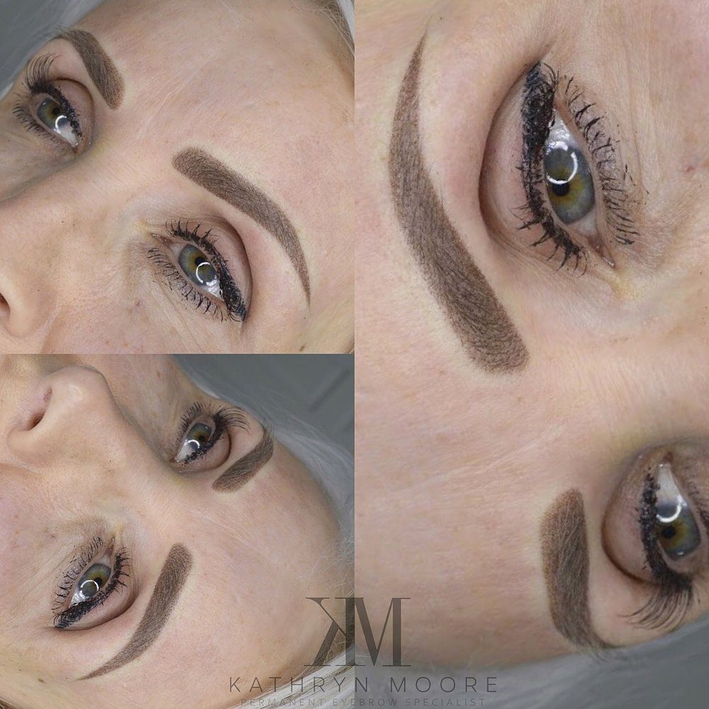 Semi Permanent Eyebrows Before After Hair Stroke Eyebrows Glasgow