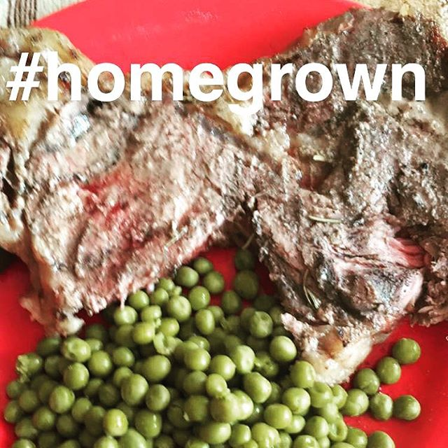 #ribeyesteak #beefitswhatsfordinner #eatlocalgrown #homegrownbeef