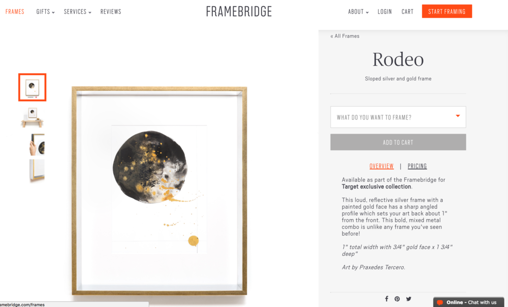 Framebridge + Target frame Collaboration