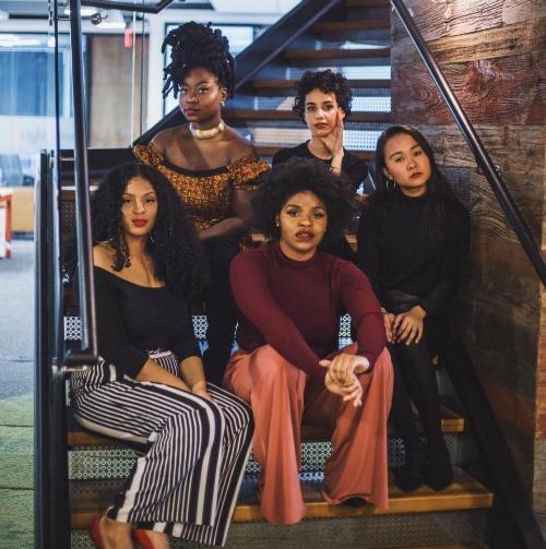 The Electric Lady Team (Top Left) Keturah, TBD, Alexis Mercado, Sofiya Ballin, Melissa Ly