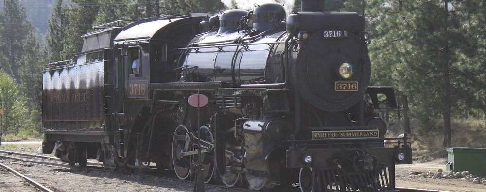 The Kettle Valley Steam Train   Ride included in this Experience