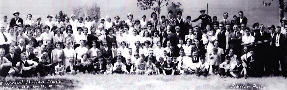Italian Club Picnic   Kelowna, 1938
