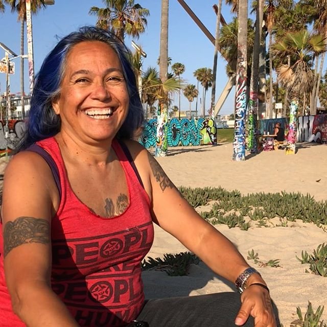 Lydia Ponce (Mayo, Quechua), one tough grandmother, Assistant Director of American Indian Movement SoCal and Director of Idle No More SoCal hangs at #Venice, her home for over 30 years, to talk about #decolonization and the #DecolonizeDaily app. The app  and broader vision of the project would not exist today if it were not for Lydia's persistent wisdom, guidance, love and support. Much love, respect and gratitude. 🙏🏾♥️✊🏾 . Hear more from this interview with Lydia soon as part of our upcoming fundraiser. . #AIM #SoCal #IdleNoMore #IndigenousStillHere #NoMorePipelines #NoMore #MMIW