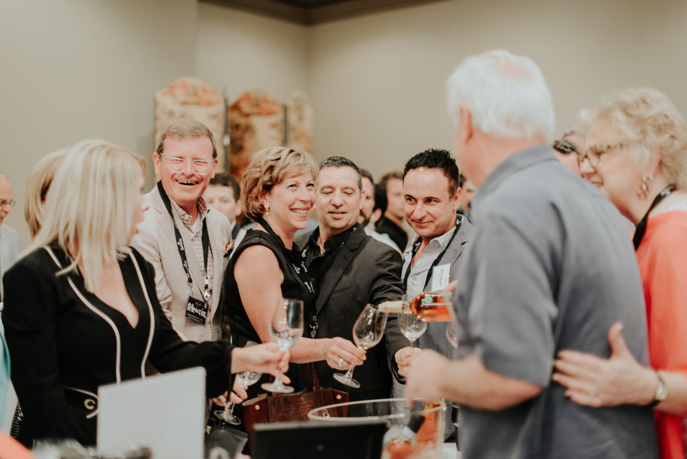Excited guests at our 4th Annual Fête du vin on June 28, 2017.