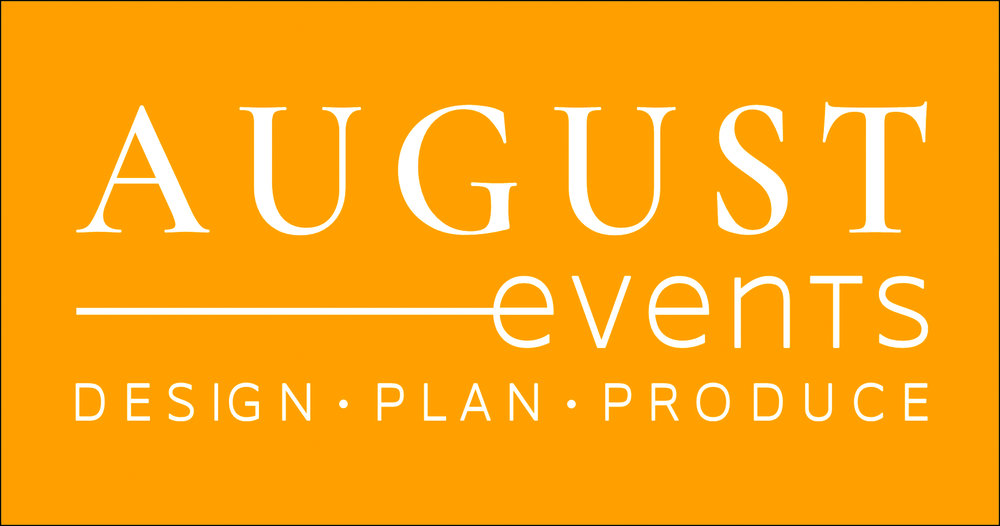 August events logo with tagline - reverse saffron.jpg