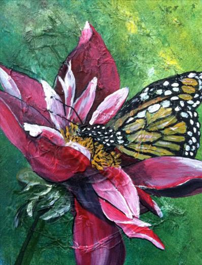 butterfly, acylic on canvas © Shauna Madsen
