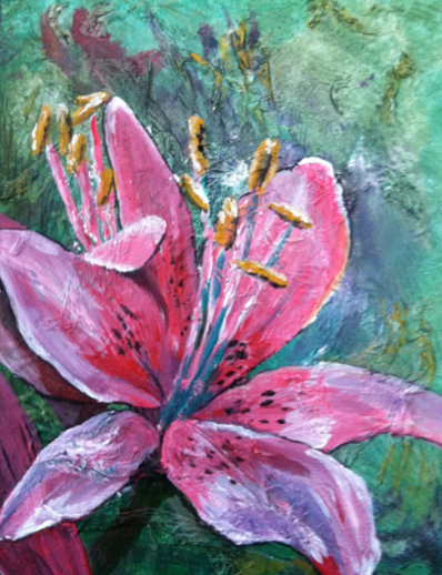 Lily, acrylic on canvas © Shauna Madsen