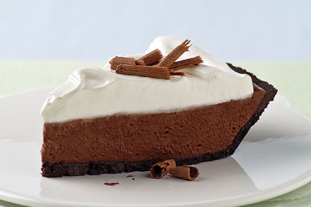 Chocolate Silk Pie with Marshmallow Meringue, from Kraft Recipes
