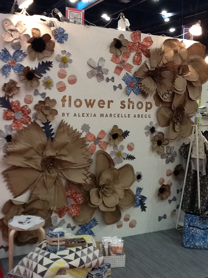 Marsh loved this booth, with the flowers made from kraft paper!