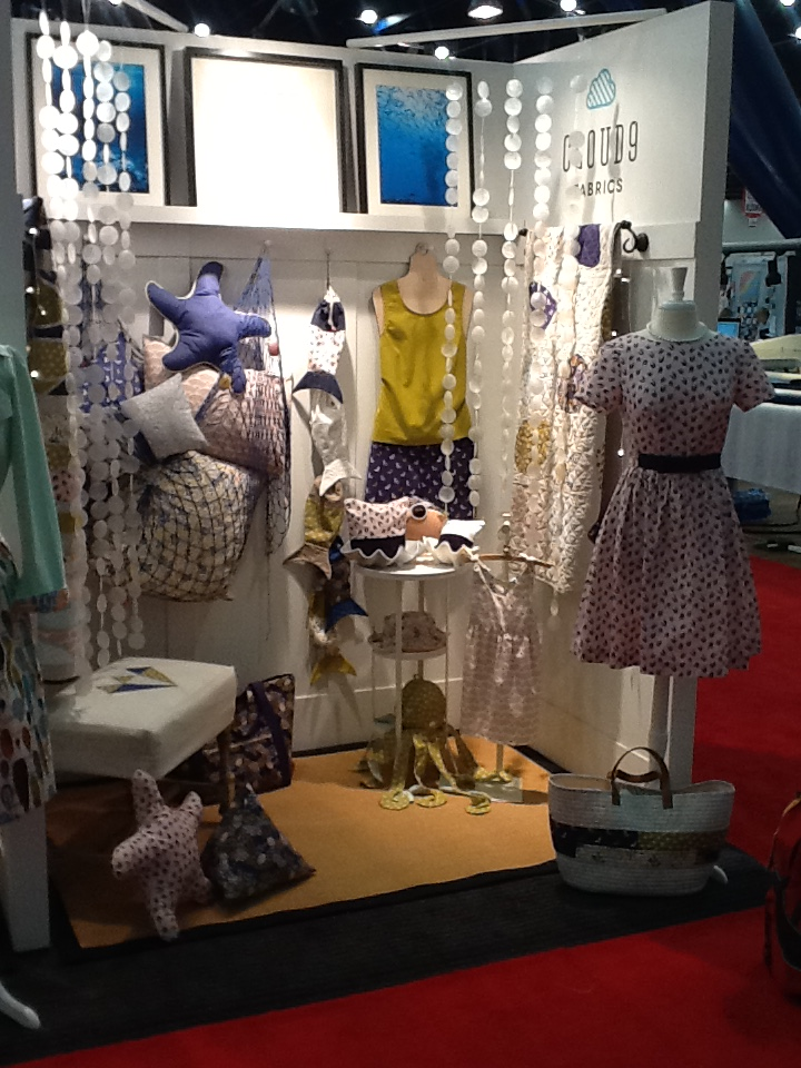 The Cloud 9 Fabrics booth was one of Marsha's favorites.