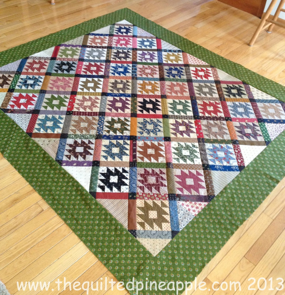 Here is a fun, scrappy Rocky Mountain Puzzle by Linda Hrcka, from her blog, The Quilted Pineapple.