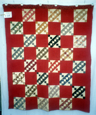 Quilt Index #1E-3D-17EA, c. 1880, quilted by Rhoda Mabie.See complete record here.