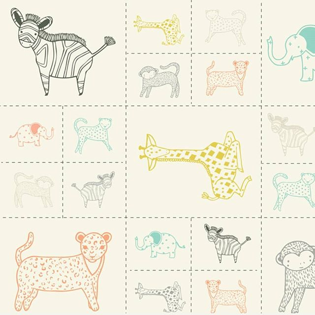 We've got the cutest critters in the shop - the Savannah panel from Gingiber by Moda along with some coordinating prints.  Savannah was inspired by the designer's favorite children's books and trips to the zoo. This precious animal panel is perfect for decorating a summer nursery with pillows, quilts, wall hangings, or little stuffies. Come by the store and see these sweet animals.  #modalove #savannah #gingiber fabric #nurserydecor #sewingforkids #sewingforbaby #quiltshop