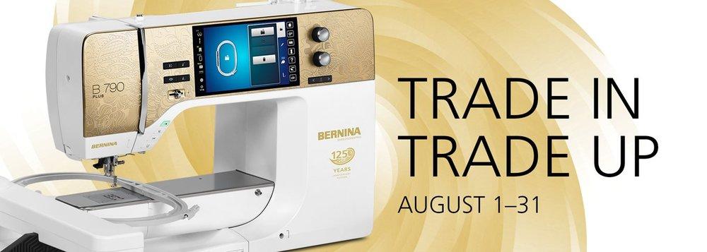 Bernina Trade In Trade Up Event