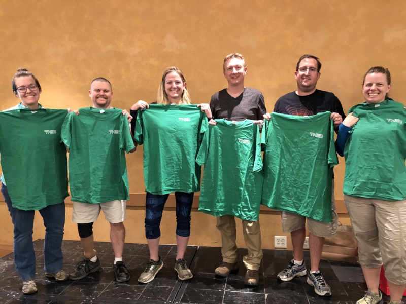 Third place - Badonkeydonks earned their green shirts with an average time per clue of 18.24 minutes.