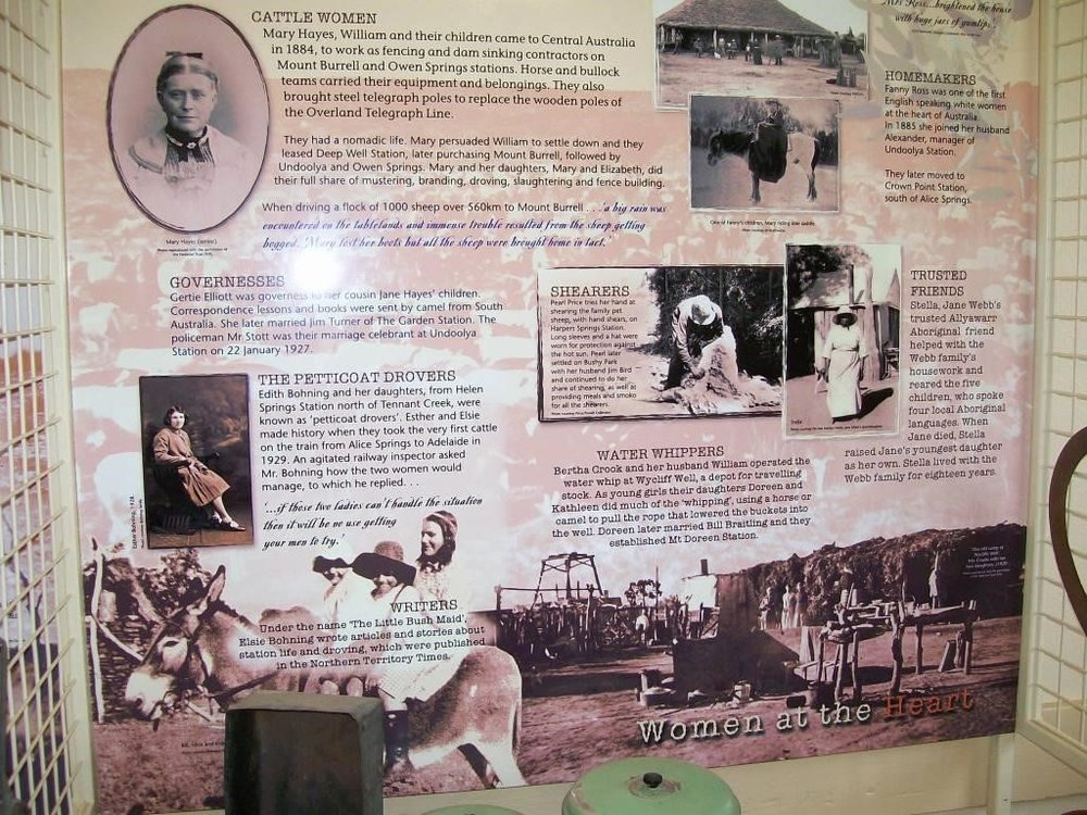 Display panel from the exhibition,  Women at the Heart , National Pioneer Women's Hall of Fame.