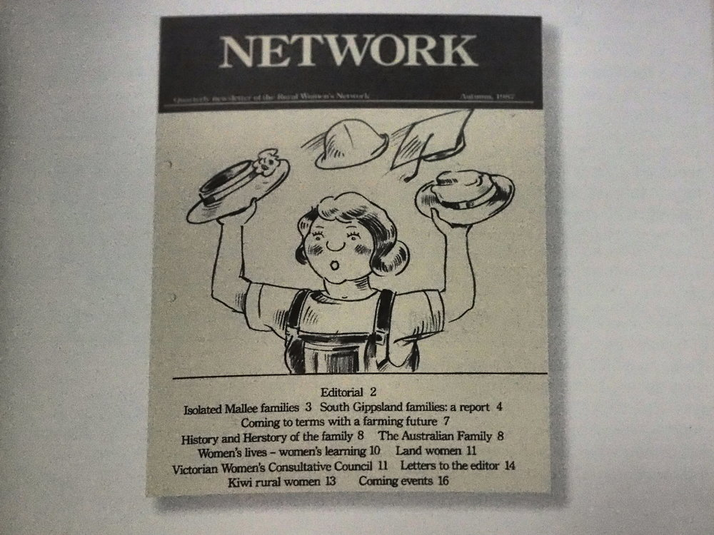 Inaugural Rural Women's Network Network Newsletter, 1987