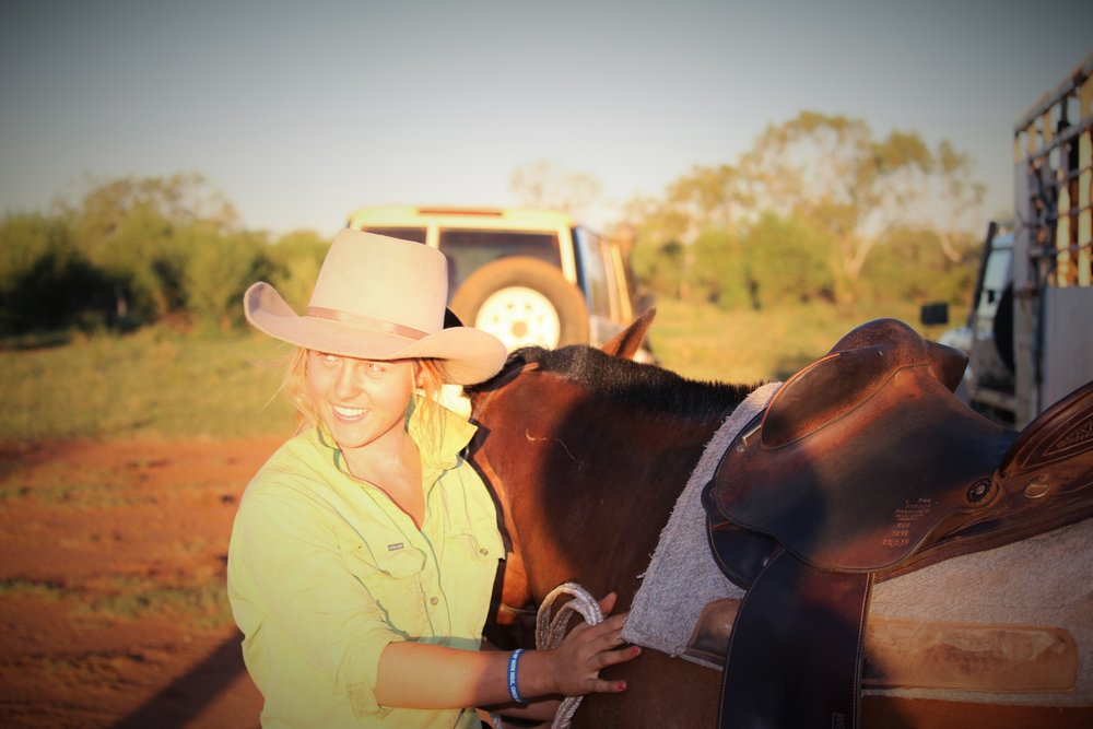 Emma Moss pictured during a golden sunset in the Kimberley, Photograph: supplied.