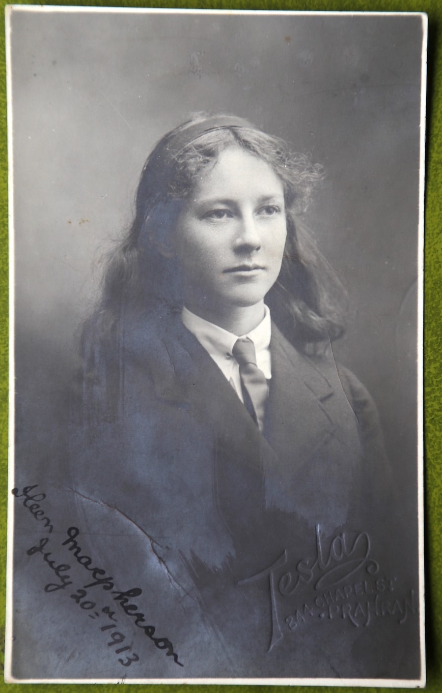 Ileen Macpherson, school photo, 1913 (private collection),  Image supplied by John Paull.