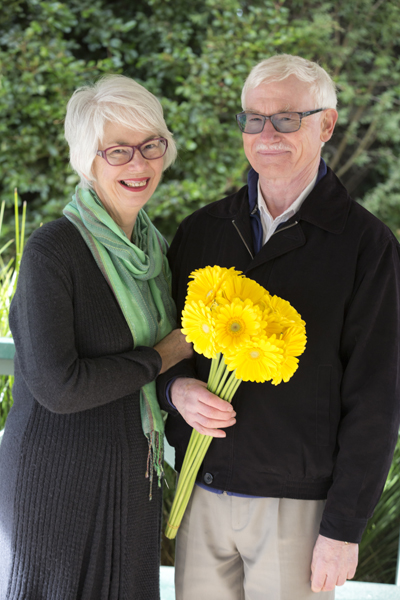 Alison and Gerald Brinson of Peny Bryn Flowers, 2017, image courtesy Janette Scott (Yarra Ranges Council).