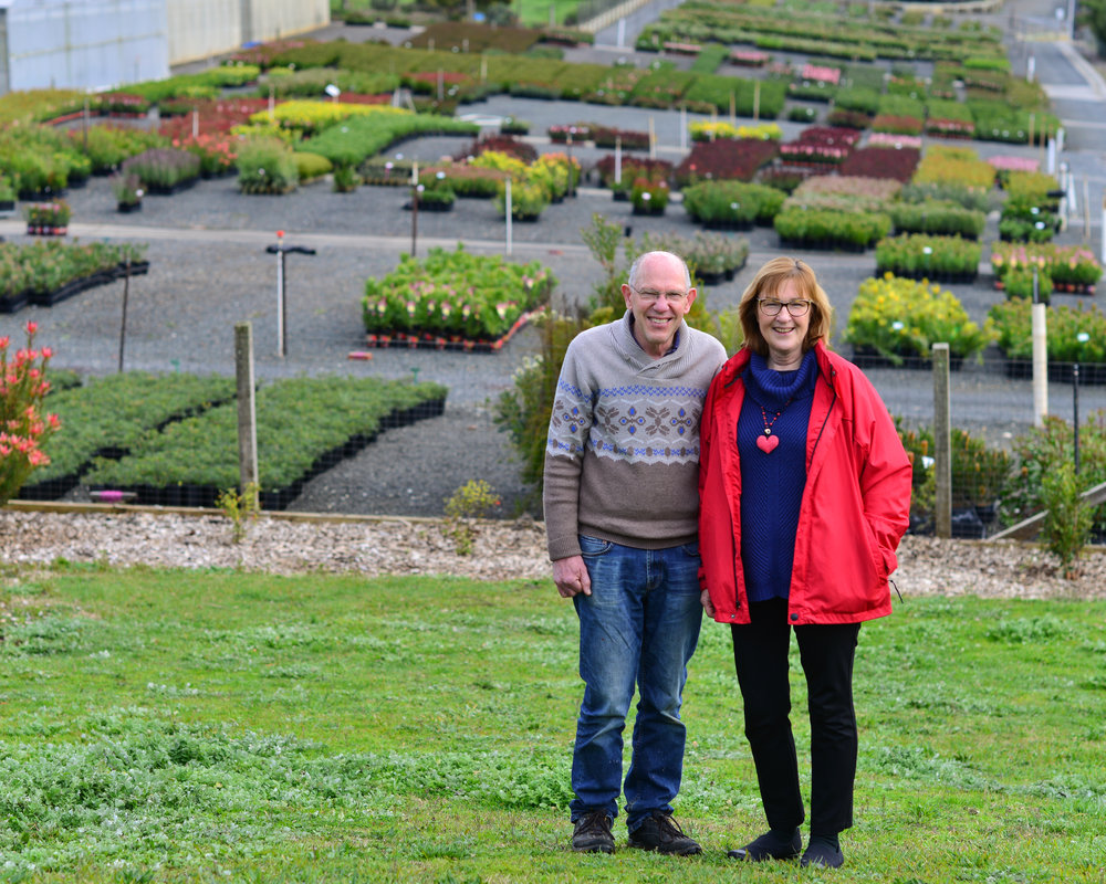 Ilse and David Matthews of Proteaflora Nursery, 2016, image courtesy Tagen Baker.