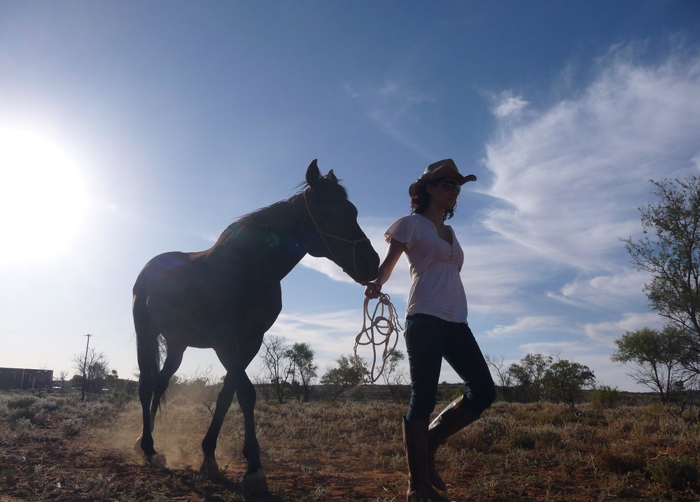 Anika Molesworth with horse, 2017, image supplied.