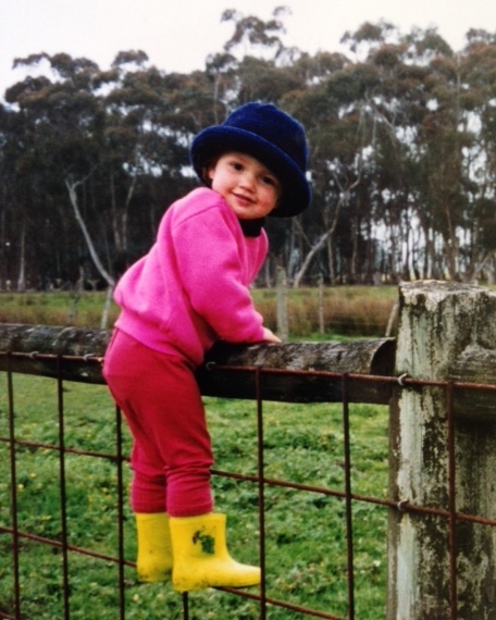 Laura as a child on the family farm in Nerrin Nerrin, Victoria, image supplied by Laura Lewis.