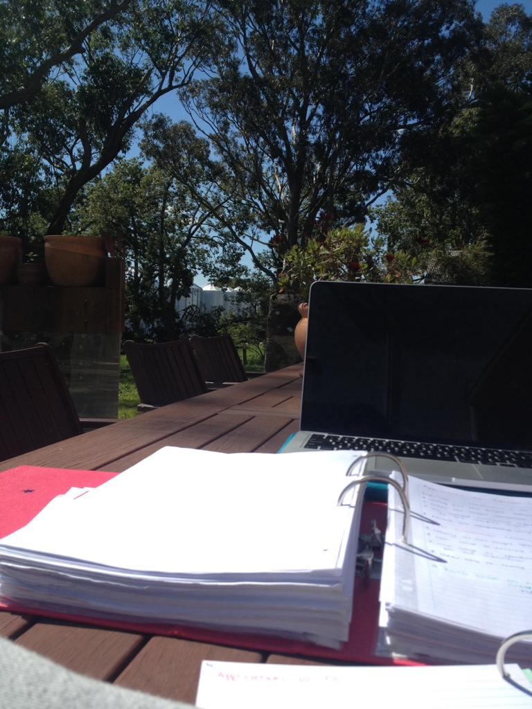 A common daily view for Laura as she studies her Bachelor of Agricultural Business remotely, image supplied by Laura Lewis.