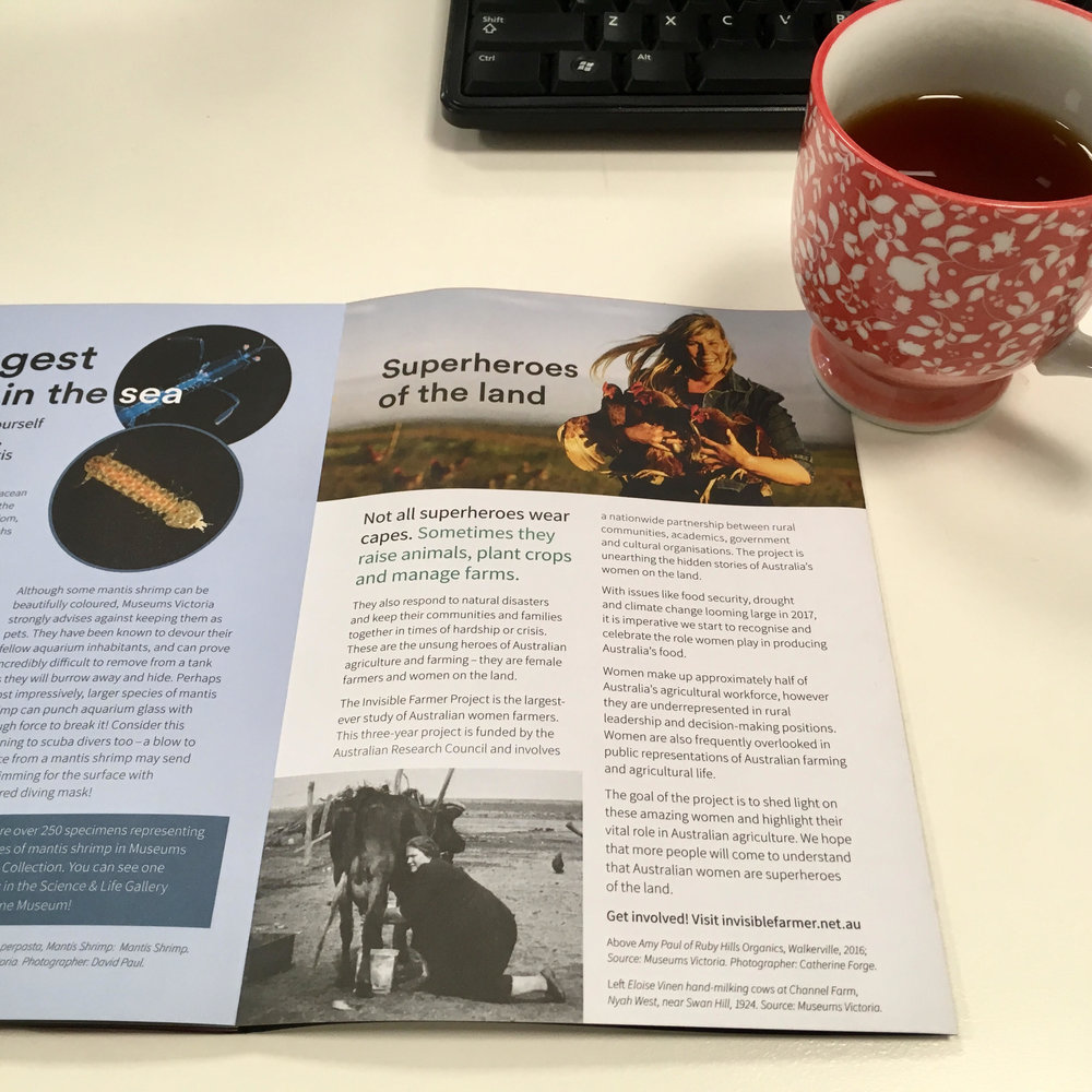 'Superheroes of the Land', Museums Victoria Discover Magazine, Winter 2017.