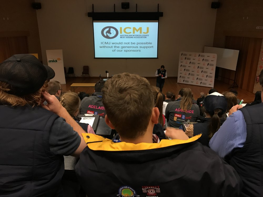 Rayali believes that conferences and public Ag events provide a great opportunity for networking and career growth. Image taken at an Intercollegiate Meat Judging Association (ICMJ) event that Rayali competed in.