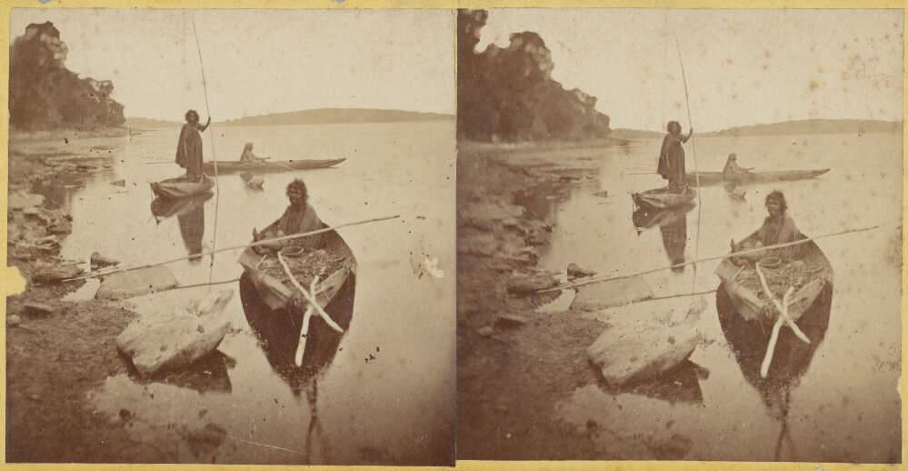 Aboriginal Australian women fishing in Lake Tyers, Victoria, ca. 1867 Charles Walter. Source: National Library of Australia .