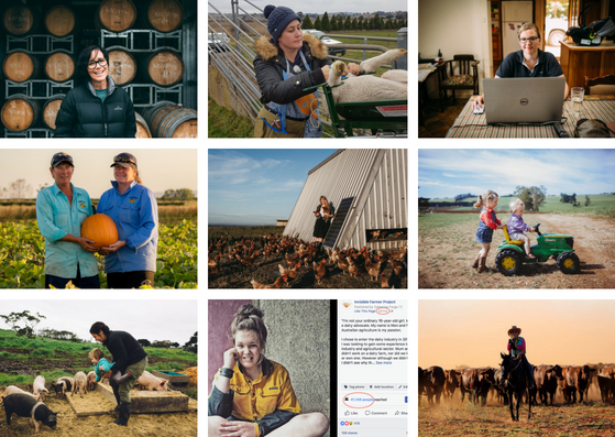 A small sample of stories/images that have been collected thus far by the Invisible Farmer Project, aiming to make women's stories and histories more visible. This slide was taken from a previous presentation by Catherine Forge (Museums Victoria, Invisible Farmer Project).