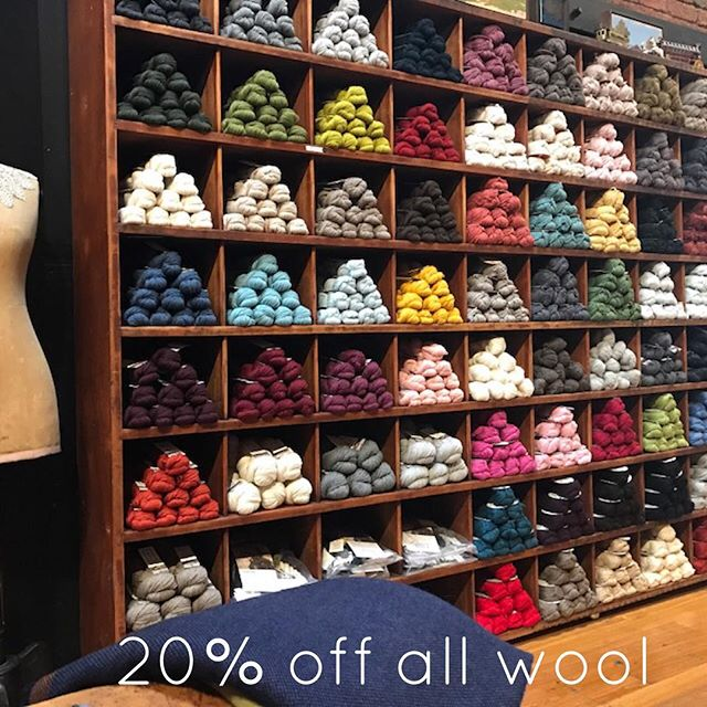Wool Sale! Making way for new stock, 20% off all knitting yarn - 1 week only! Shop online, link in bio 🖤 #knitting #yarn #wool #sale #haberdashery #online #store
