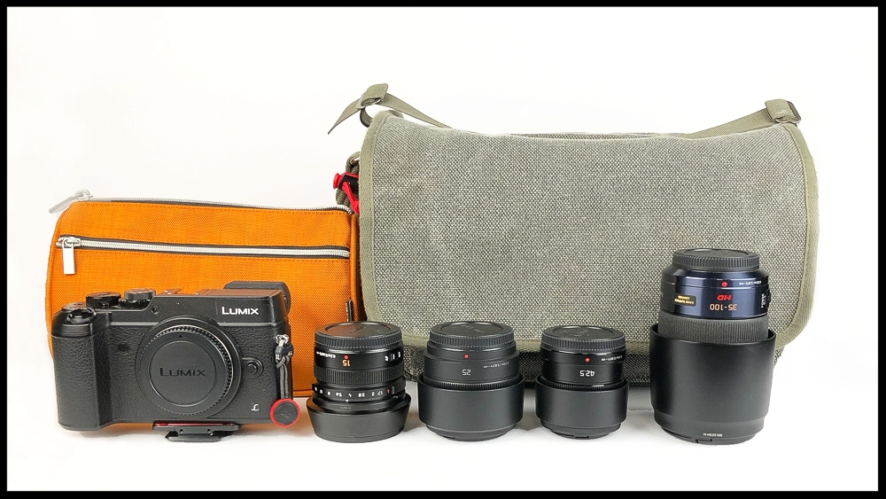 Full Lumix Kit with Think Tank Retrospective 7 Bag.