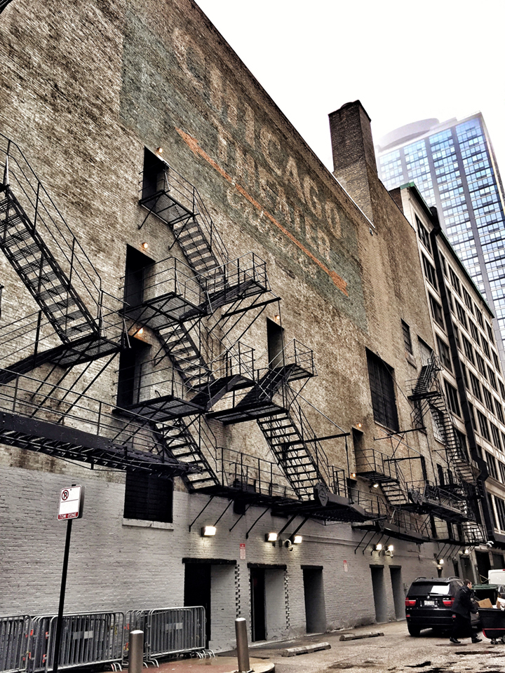 The Chicago Theater alley ghost sign.