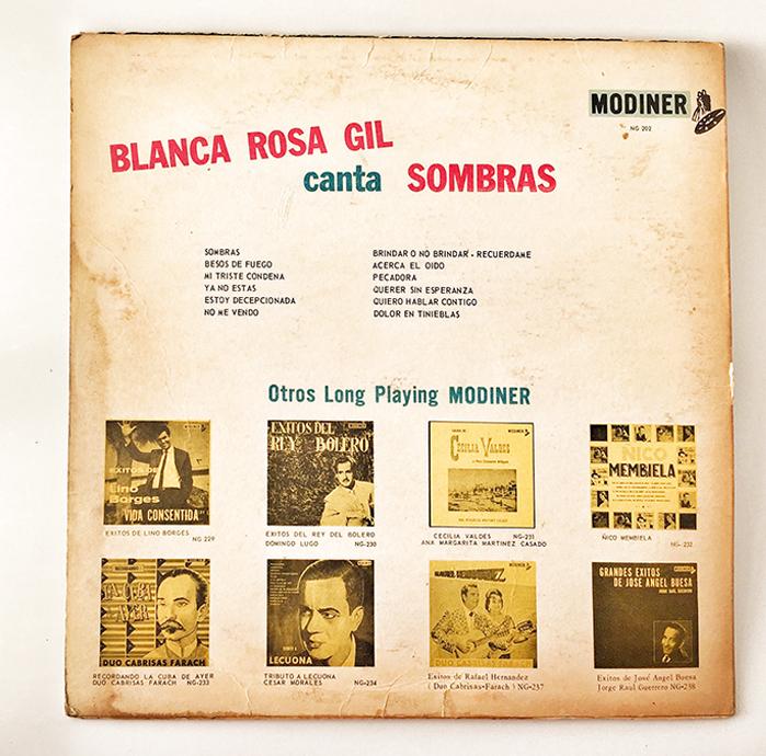 Blanca Rosa Gil, Sombras, back