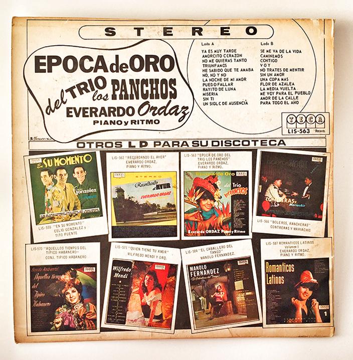 Epoca De Oro, del Trio Los Panchos, back