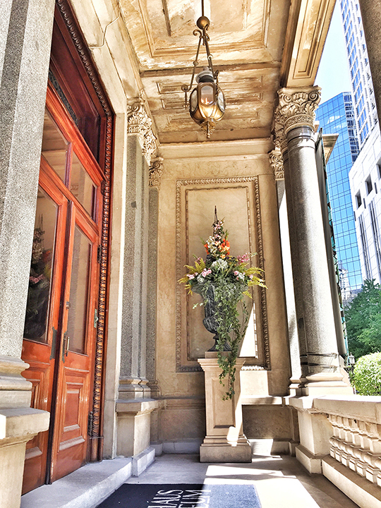 Entrance to the Driehaus Museum.