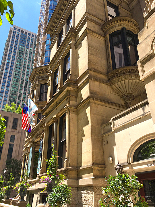 The Driehaus Museum, front façade.