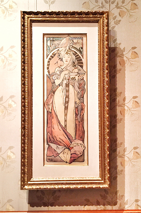 Mucha, Maquette for Austrian Pavilion, 1900. This was made for the Exposition Universelle in Paris - gorgeous watercolor and ink work.