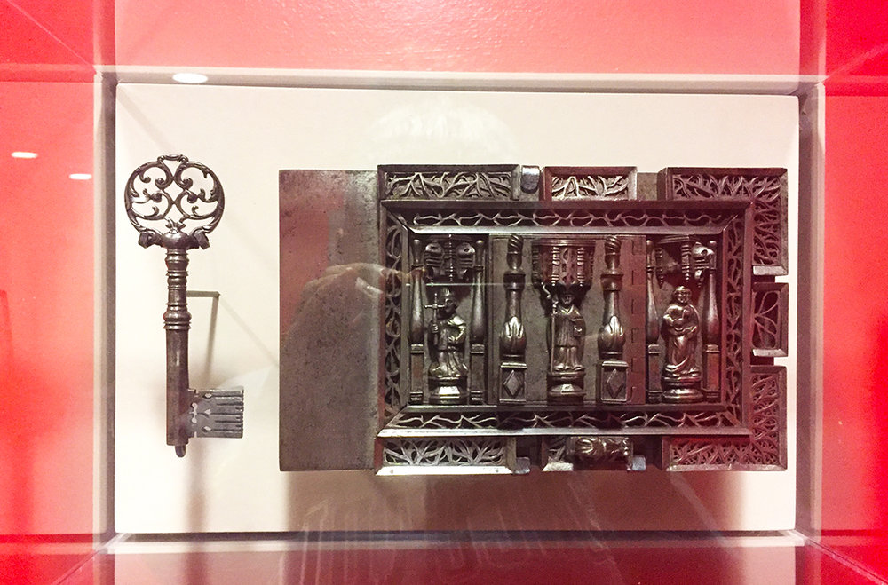 Lock and Key, lock: early 16th century, key: ca. 1700. French, carved and cast iron. Gift of Mr. and Mrs. Solomon Byron Smith.