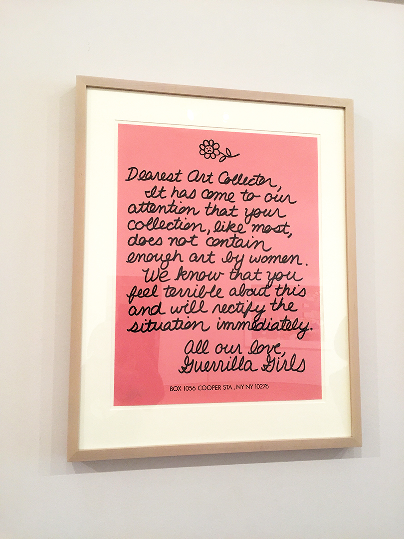 Guerilla Girls, Dearest Art Collector, 1986.