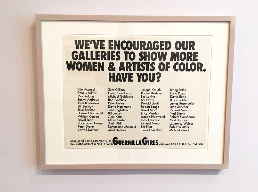 Guerilla Girls, 'We've Encouraged Our Galleries To Show More Women And Artists Of Color. Have You?' 1989