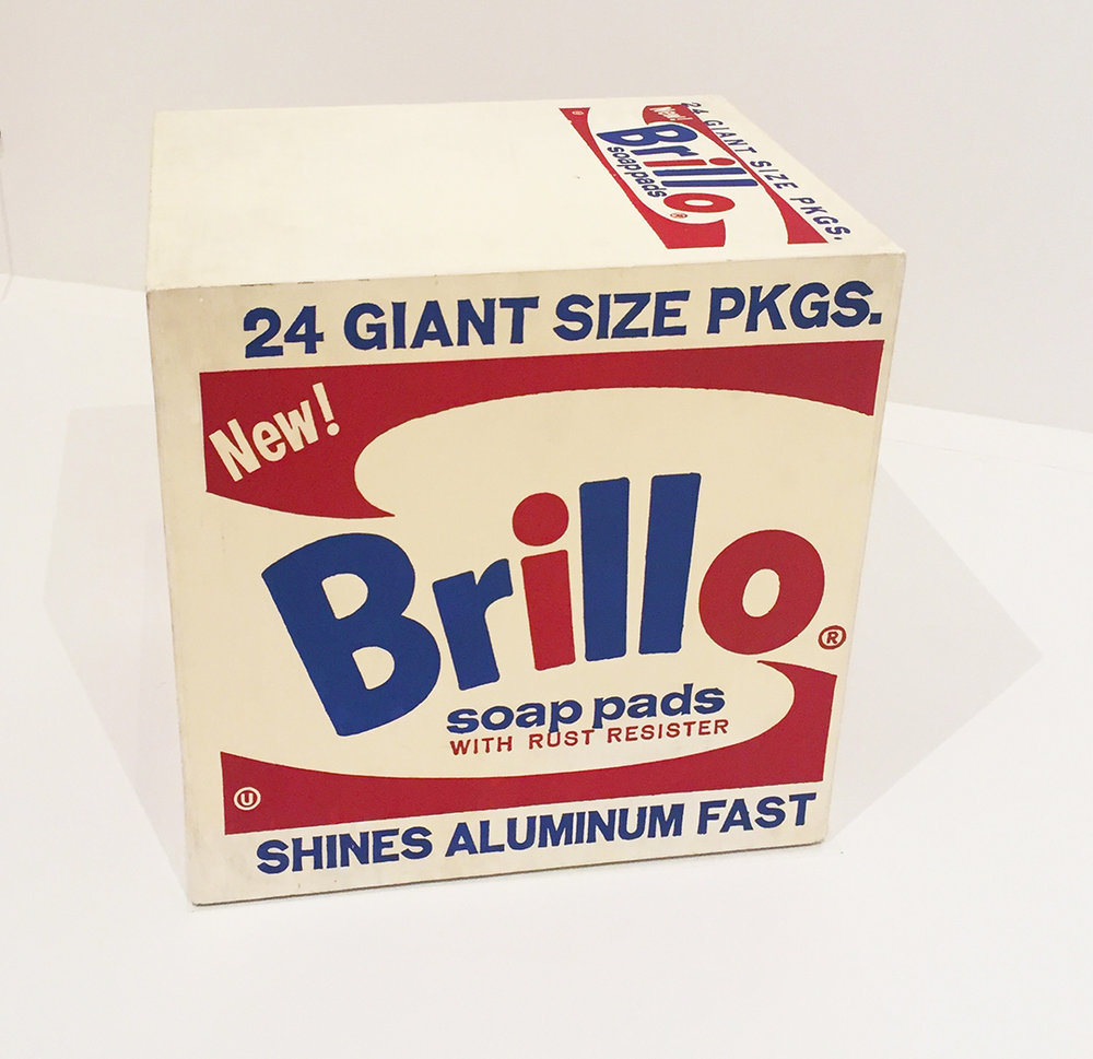"Andy Warhol, Brillo Box, 1964  "" The reason I'm painting this way is that I want to be a machine, and feel that whatever I do and do machine-like is what I want to do ."" OH ANDY!"