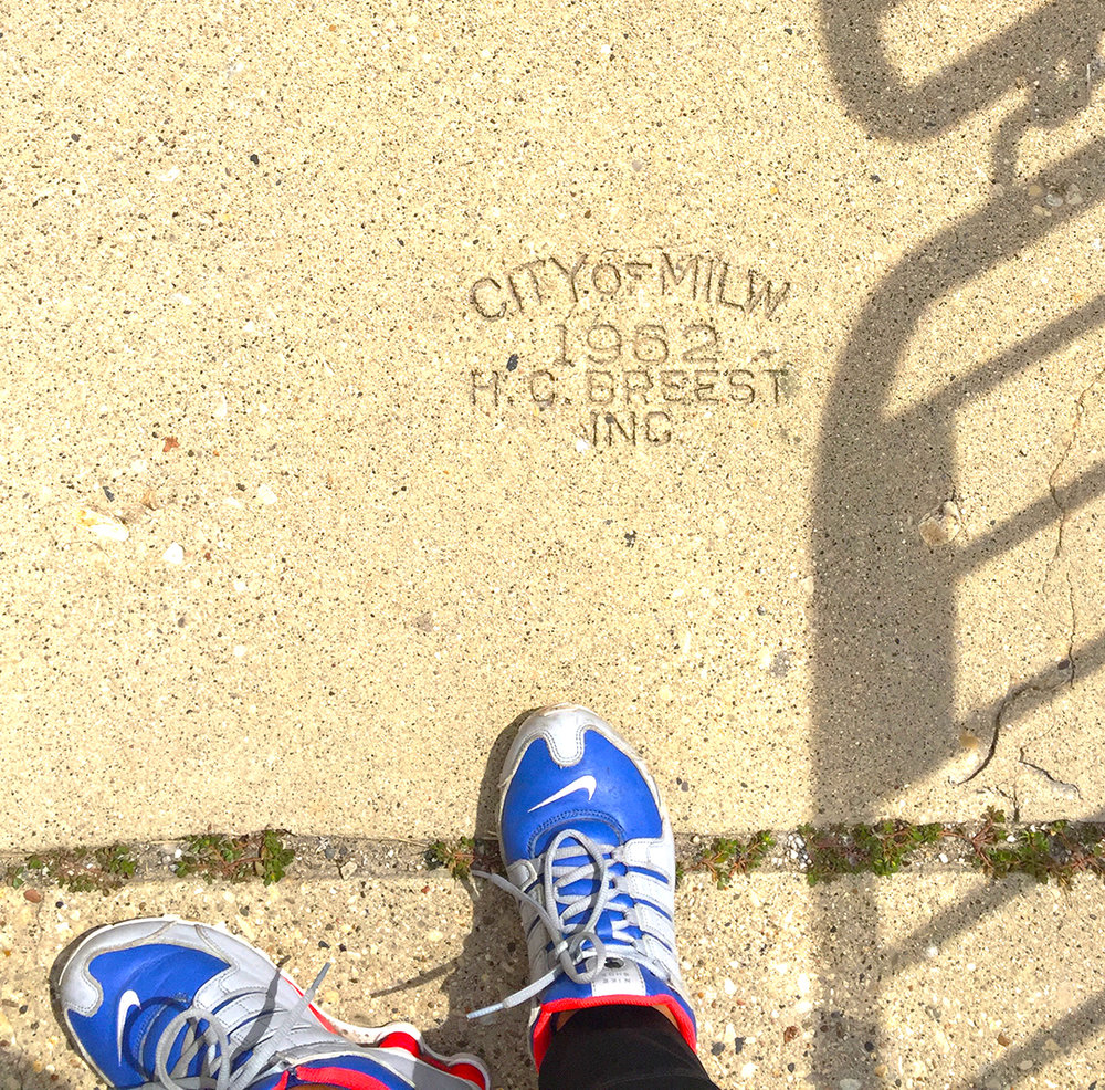 CITY OF MILW. 1962 Sidewalk Stamp