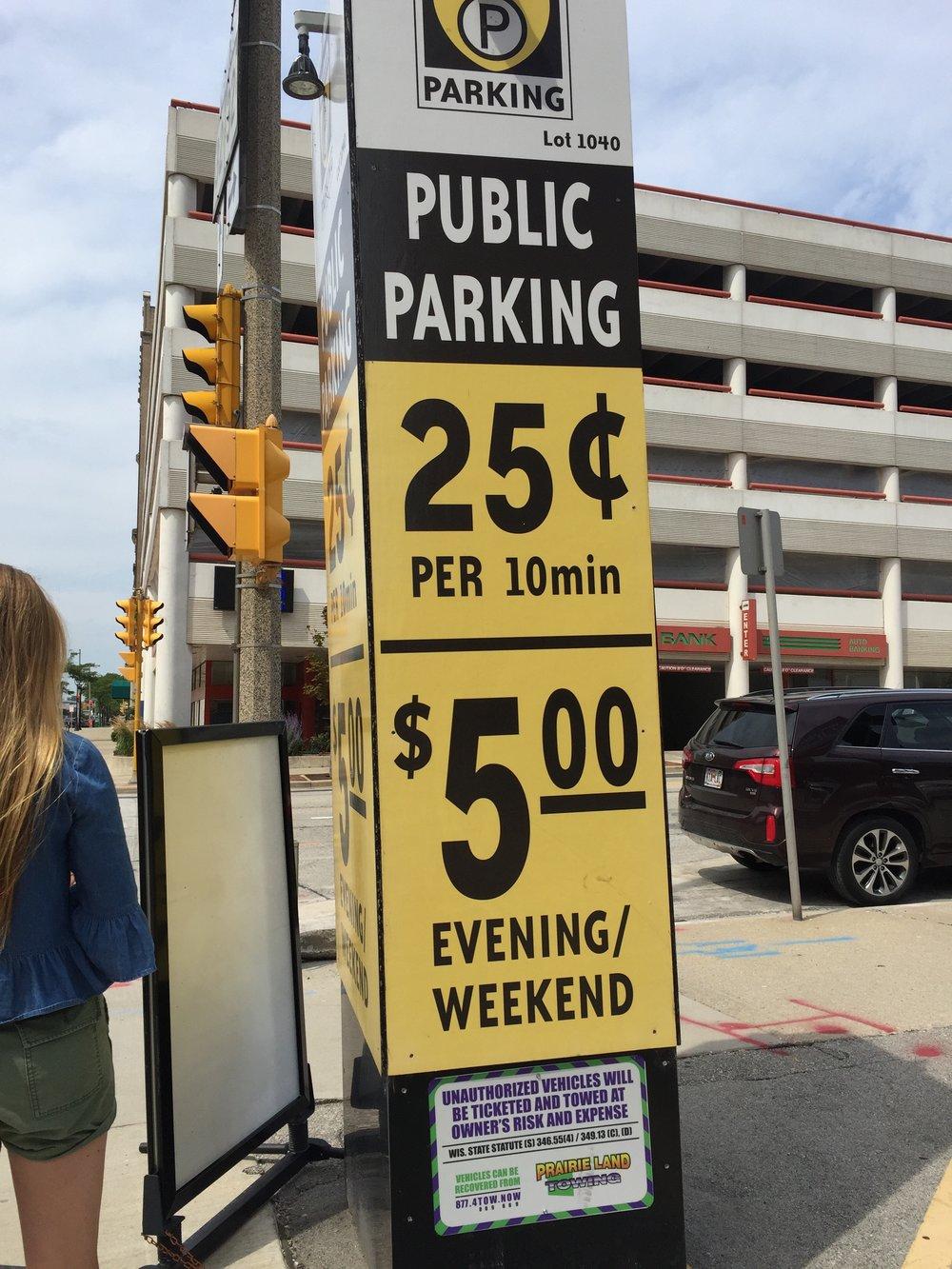 $5 Parking? WHAAAA???