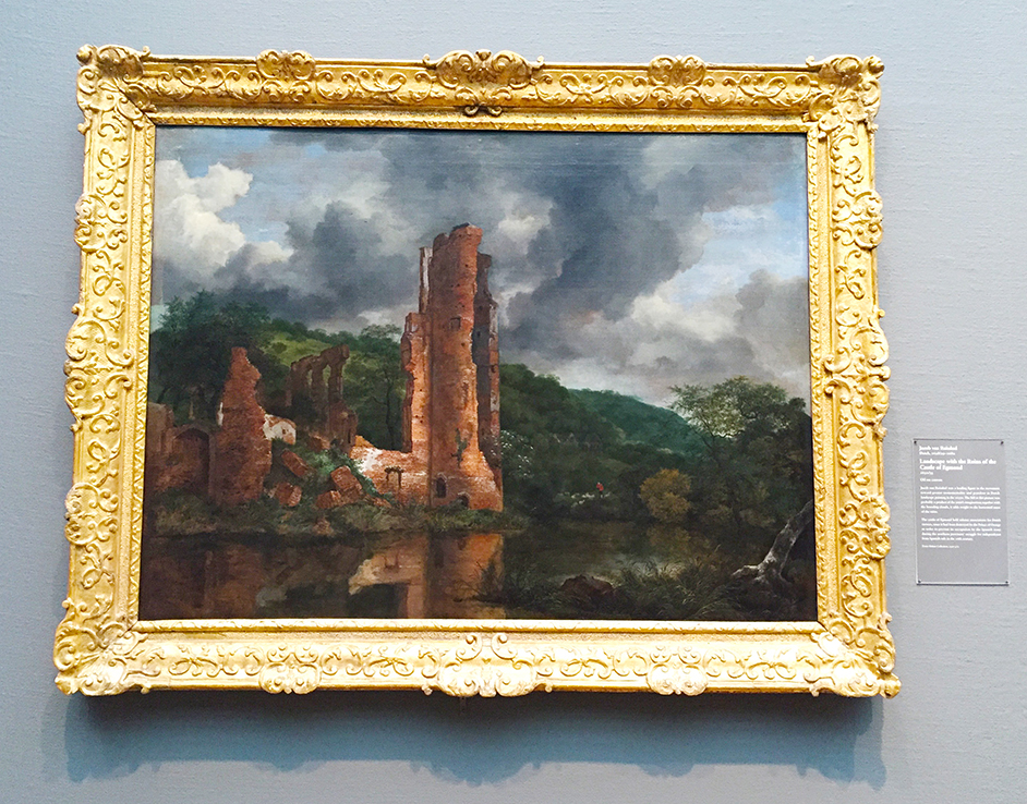 Landscape with the Ruins of the Castle of Egmond, Jacob van Ruisdael, Dutch, 1650/55, oil on canvas.