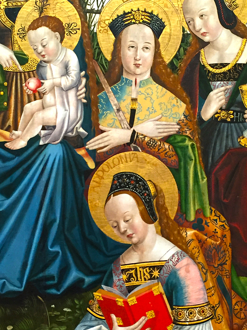 Details of Triptych of the Virgin and Child with Saints